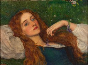 In the grass by Arthur Hughes
